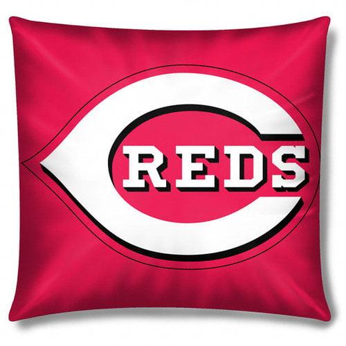MLB - Cincinnati Reds 16x16 Embroidered Plush Pillow