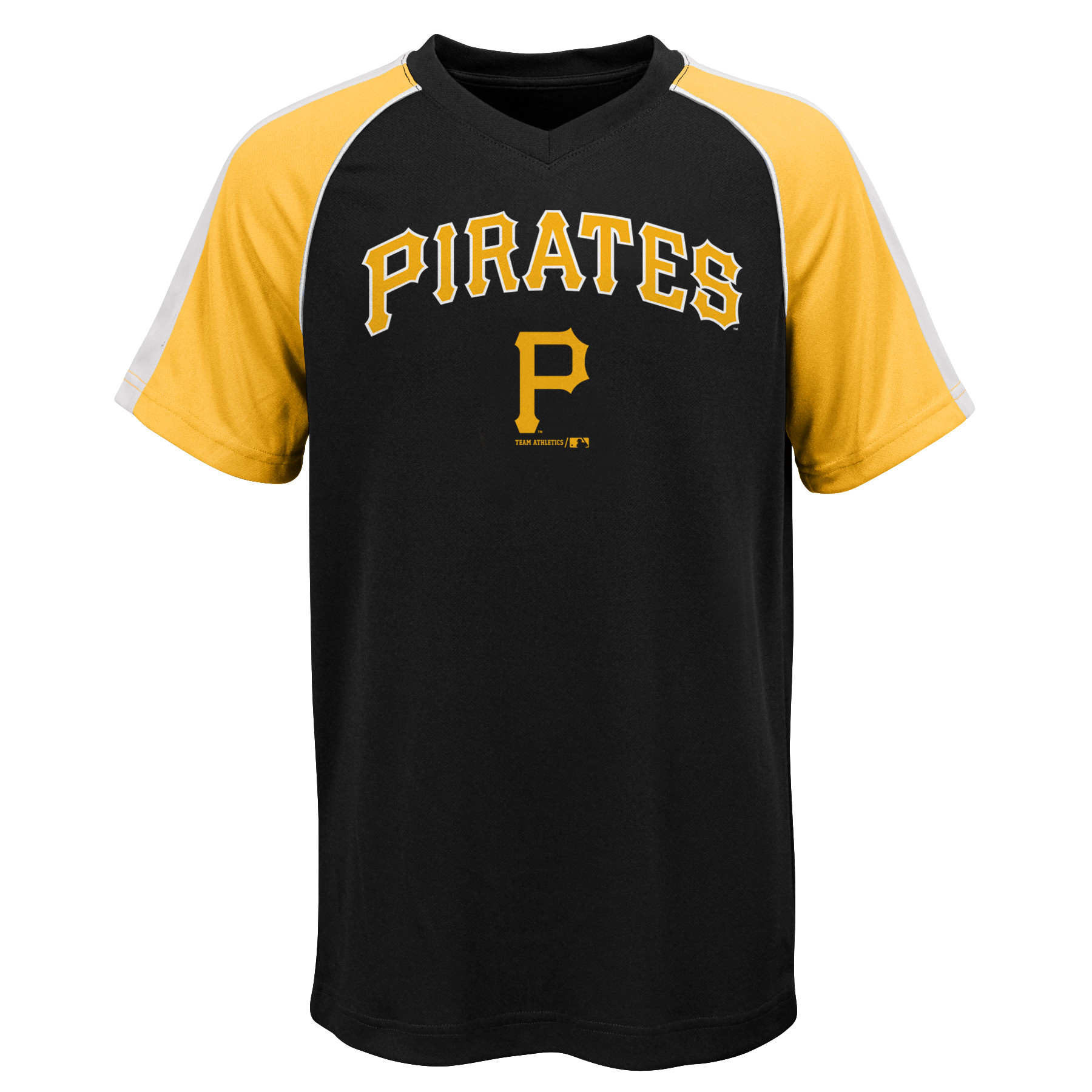 MLB Pittsburgh PIRATES TEE Short Sleeve Boys Fashion Jersey Tee 100% Polyester Pin Dot Mesh Jersey Team Tee 4-18