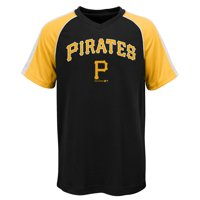 MLB Pittsburgh PIRATES TEE Short Sleeve Boys Fashion Jersey Tee 100% Polyester Pin Dot Mesh Jersey Team Tee 4-18