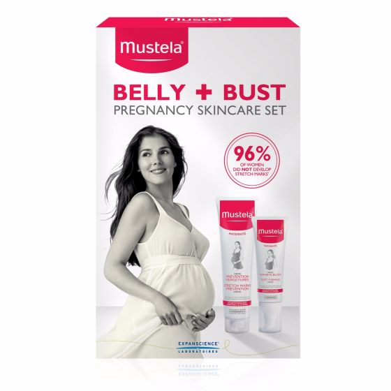 Mustela Pregnancy Belly and Bust Set, Maternity Skincare, 2 Items