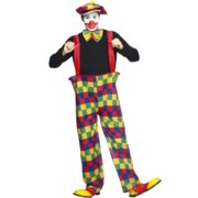 Hooped Clown Adult Costume