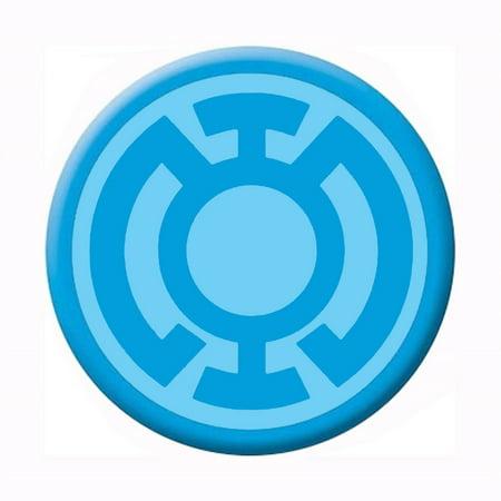 Green Lantern Blue Lantern Symbol Button (Green Lantern Blue Lantern)