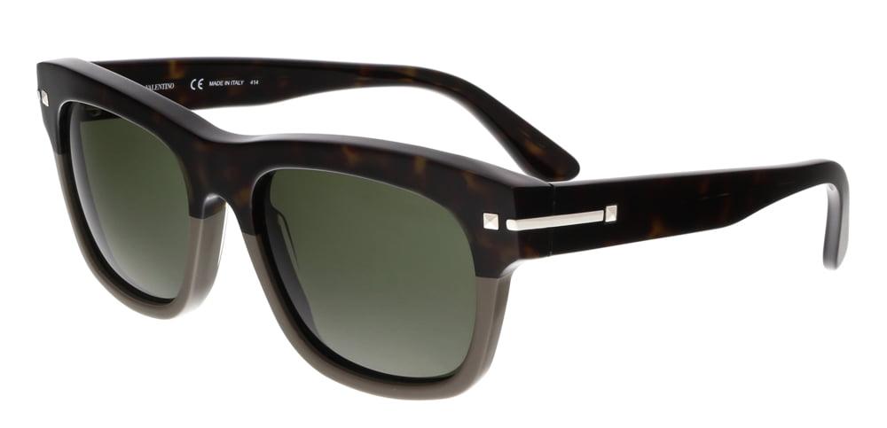 3d2070d26ed Valentino - Valentino V703S 245 Dark Havana Rectangle Sunglasses -  Walmart.com