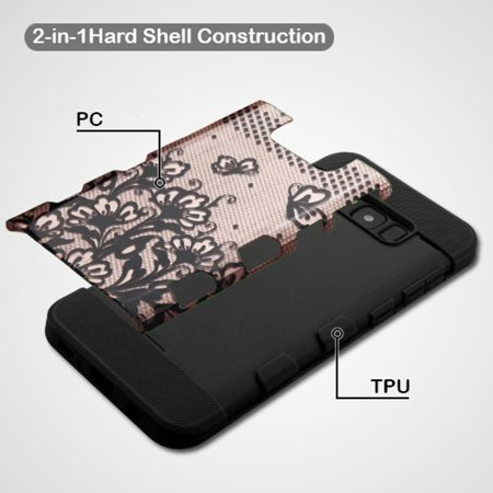 detailed look 02e87 fb51a Samsung Galaxy S8 Case, by Insten Lace Flower TUFF Trooper Shock ...
