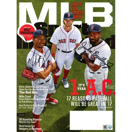 Mookie Betts And Jackie Bradley Jr Boston Red Sox Autographed Sports Illustrated 2017 Preview Magazine