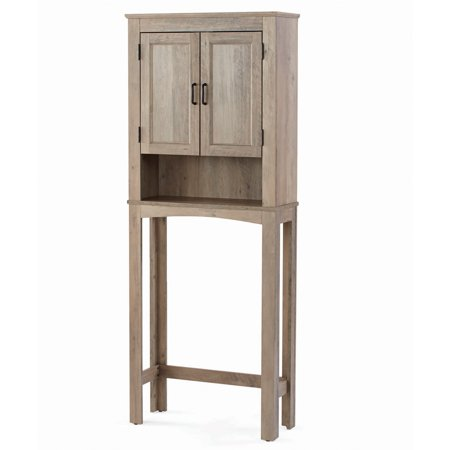 - Better Homes & Gardens, Northampton Over the Toilet Bathroom Space Saver, Rustic Gray Finish
