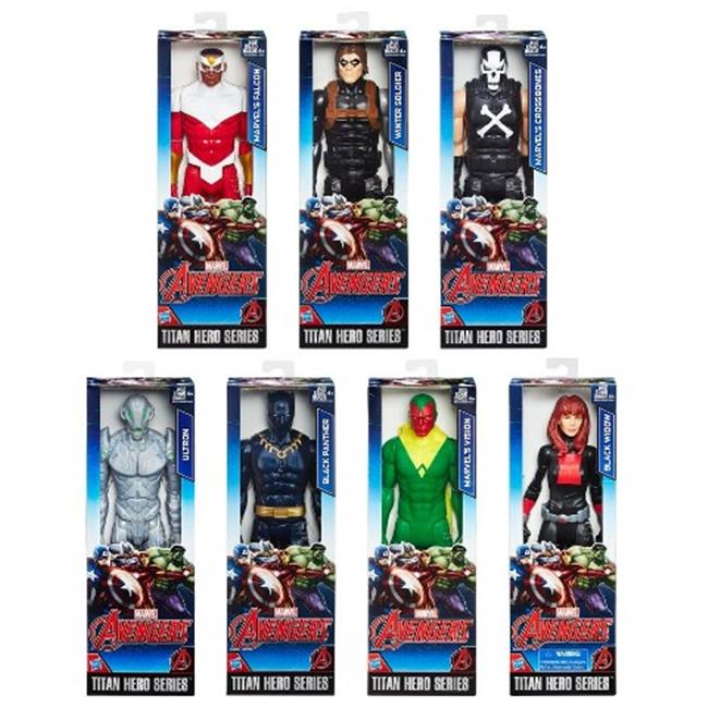 Hasbro HSBB6661 12 in. Avengers-Titan Hero Figure B Assorted, Pack of 8 by Hasbro