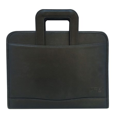MSP Portfolio Briefcase PU Leather with Smart Handle, Writing board, 3 Ring Binders and LED - Briefcases Nappa Leather