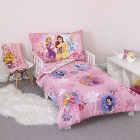 Disney Pretty Pretty Princess 4pc Toddler Bedding Set ...
