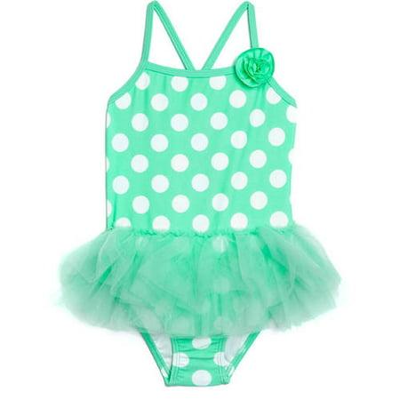 a1f17dd02a OP - Toddler Girl Dynamo Dot Tutu Skirted One-Piece Swimsuit - Walmart.com