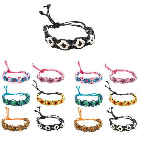 Friend Ship Bracelets (Frogsac 12 Pieces Fancy Braid Handmade Friendship Bracelets - Great Party)