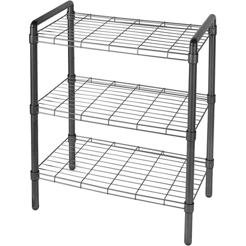 3-Tier Wire Shelving, Black