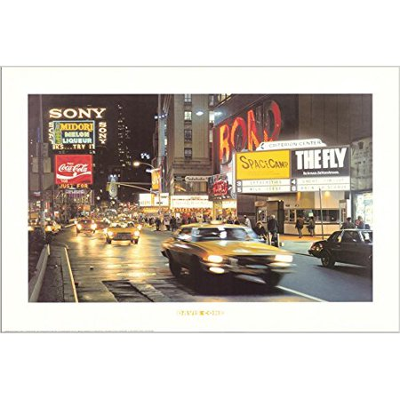 Criterion Center - Times Square - New York City by Davis Cone 36x24 Art Print Poster