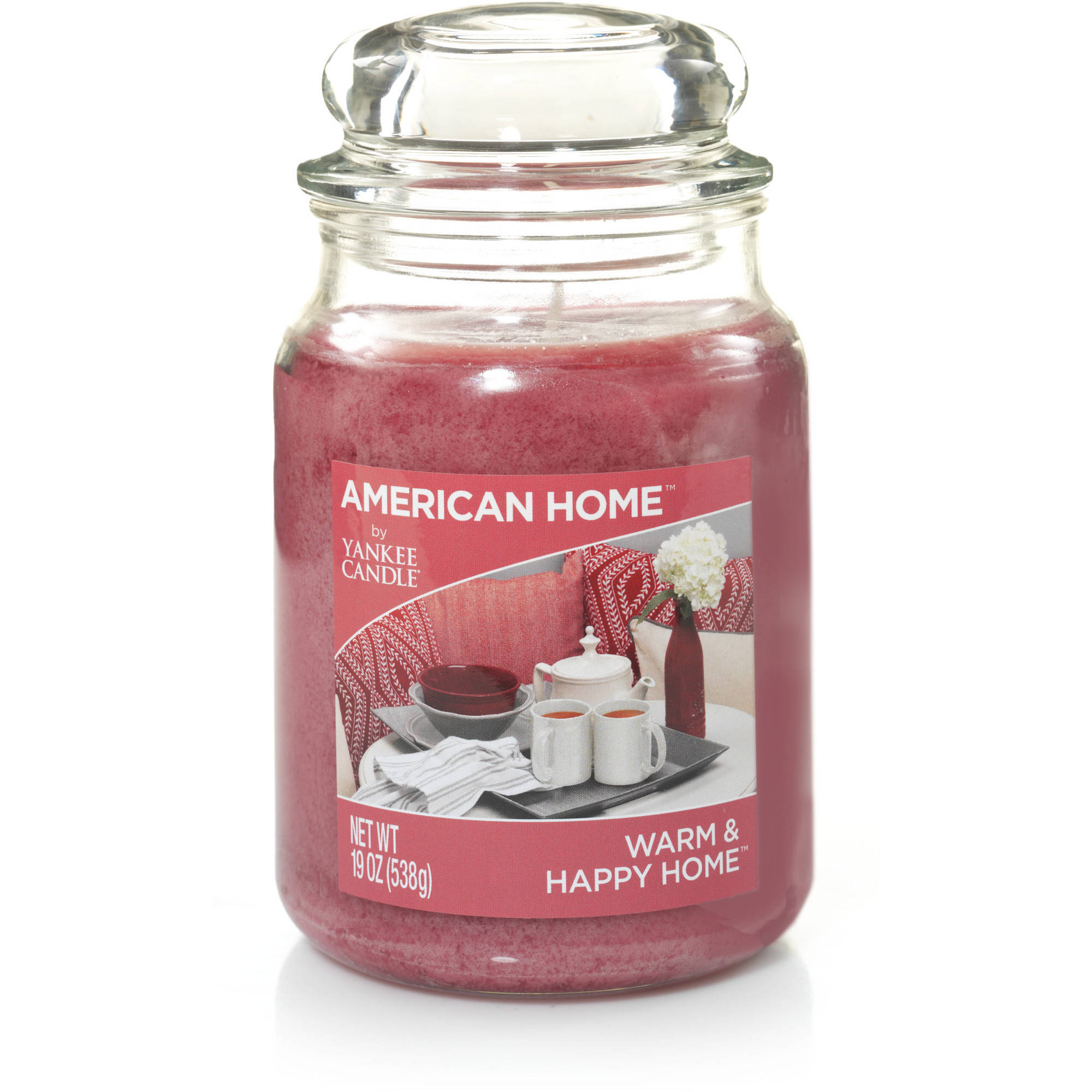 American Home by Yankee Candle Warm & Happy Home, 19 oz Large Jar