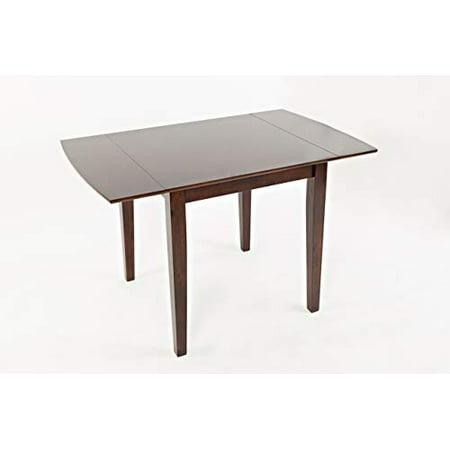 - Rectangular Wooden Drop Leaf Table, Cherry Brown