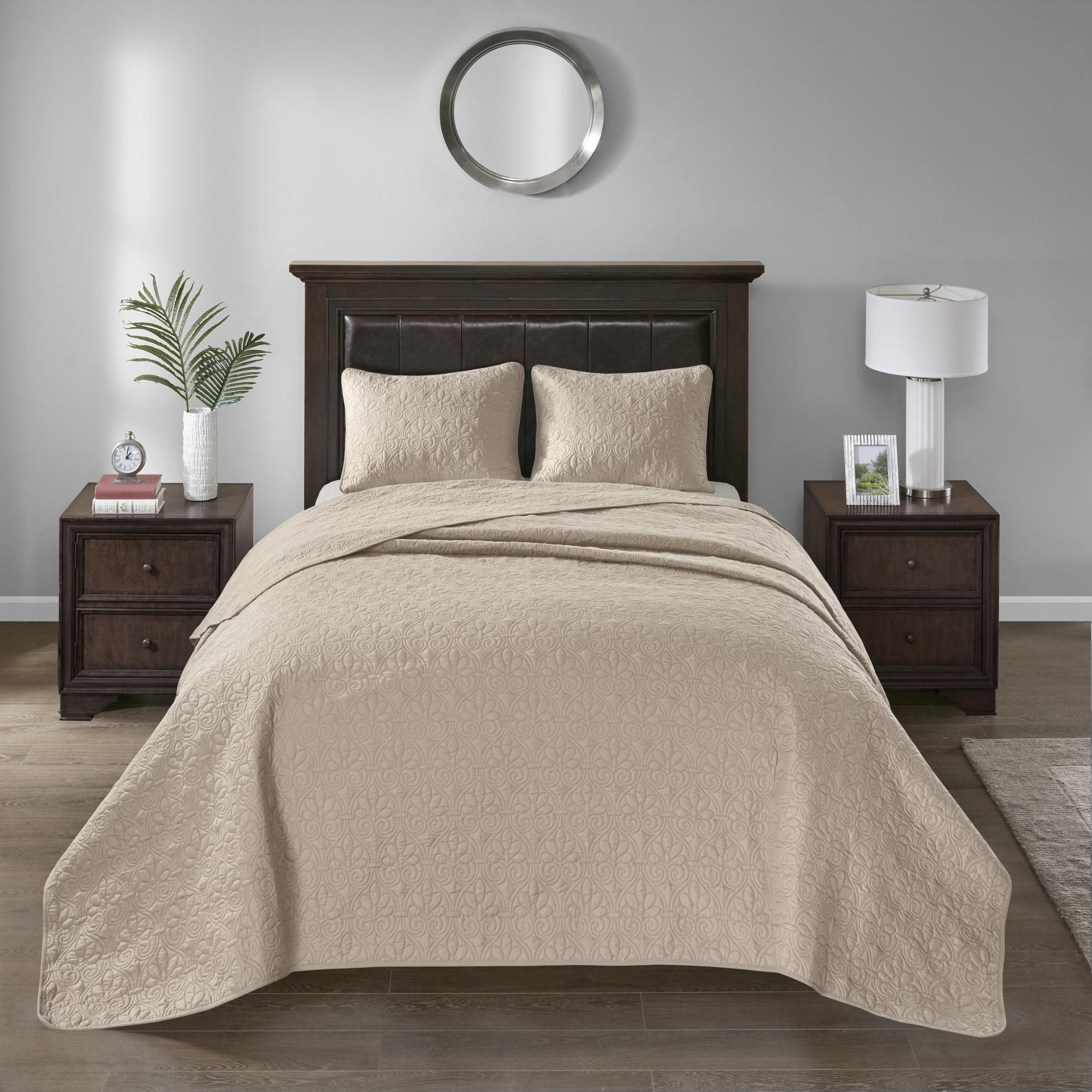 Home Essence Vancouver Solid Bedspread Mini Set
