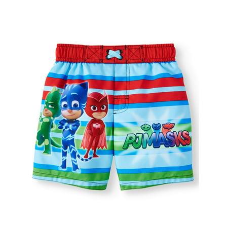 3d35acd8e7 Dreamwave - PJ Masks Toddler Boys' Swim Trunks Catboy Owlette & Gekko -  Red/Green - Walmart.com