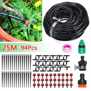 25M Drip Irrigation System Automatic DIY Micro Plant Self Watering Lawn Garden Spray Hose Kits