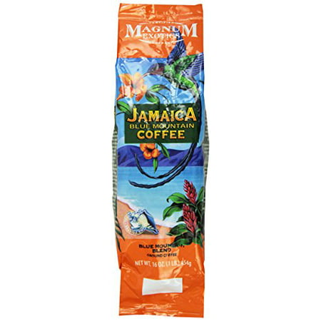 Magnum Jamaican Blue Mountain Blend Coffee, Ground, 1 Lb