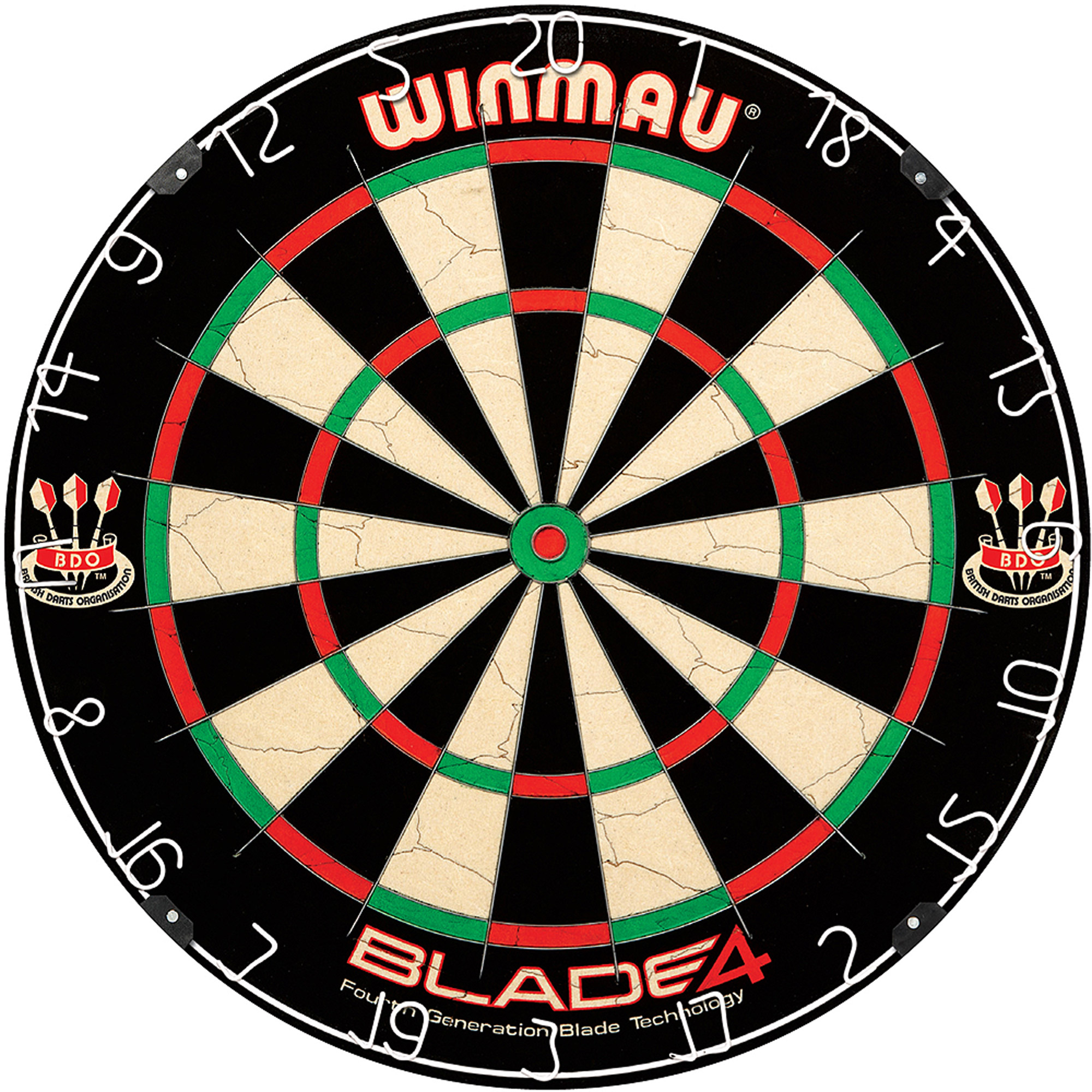 Winmau Blade 4 Bristle Dartboard by Escalade