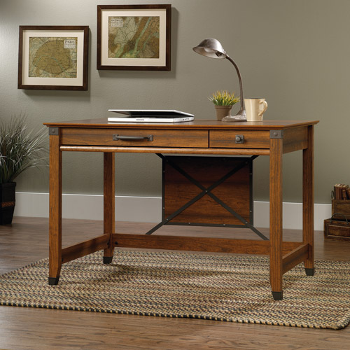 Sauder Carson Forge Writing Desk Washington Cherry Finish