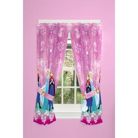 Disney's Frozen Kids Bedroom Curtain Panel Set, Set of 2, 63-inch L