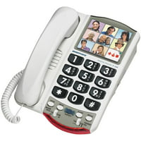 Clarity Amplified Corded Photo Phone, White