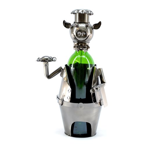 Wine Bodies Pig Waiter 1 Bottle Tabletop Wine Rack