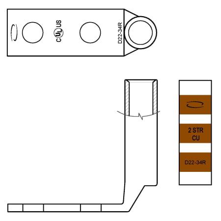 Ventev 2 Hole Ground Lug W 1 4 Stud For