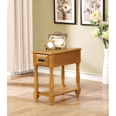 simple relax 1perfectchoice qrabard light oak side table with drawer shelf. Black Bedroom Furniture Sets. Home Design Ideas