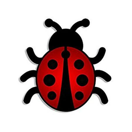 Ladybug Stickers (Lady Bug Shaped Sticker Decal (cute ladybug decal) Size: 4 x 4)