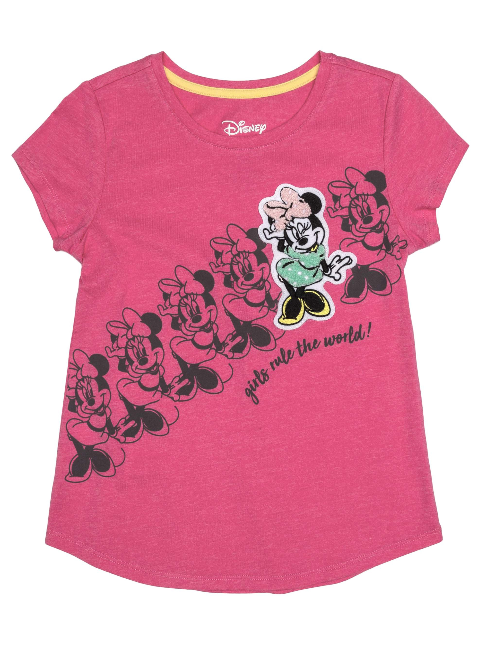Minnie Rules Chenille Patch Graphic T-Shirt (Little Girls & Big Girls)