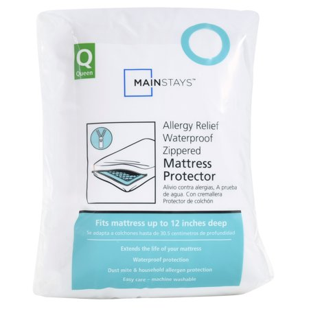 Mainstays Allergy Relief Mattress Protector, 1 Each