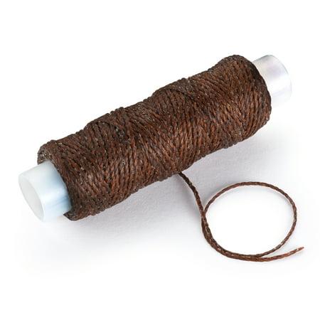 WoodRiver Waxed Nylon Thread, Dark Brown, 25yds.