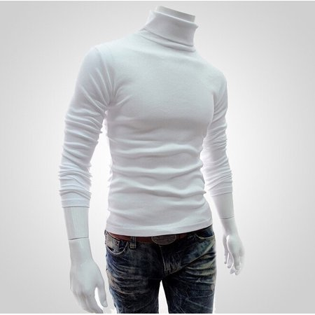 Winter Top Men Slim Warm Cotton High Neck Pullover Jumper Sweater Top Turtleneck