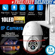 Upgraded Full HD 1080P Security Surveillance Cameras Outdoor Waterproof Wireless PTZ Camera with Night Vision - IP WiFi Cam Surveillance Cam Audio Motion Activated