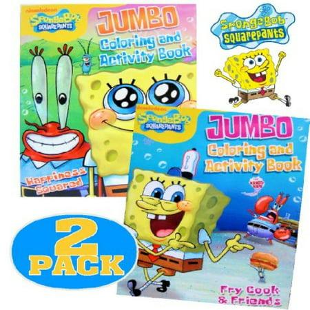 Nick Jr.® Spongebob SquarePants Coloring and Activity Book Set (2 Books ~  96 pgs each)