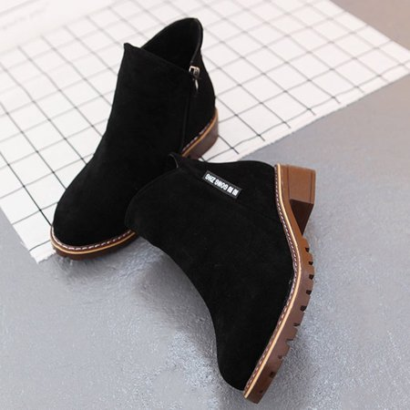 Women Ankle Boots Short Martin Boots Chunky Heels Boots Female Fashion Shoes - image 7 of 10