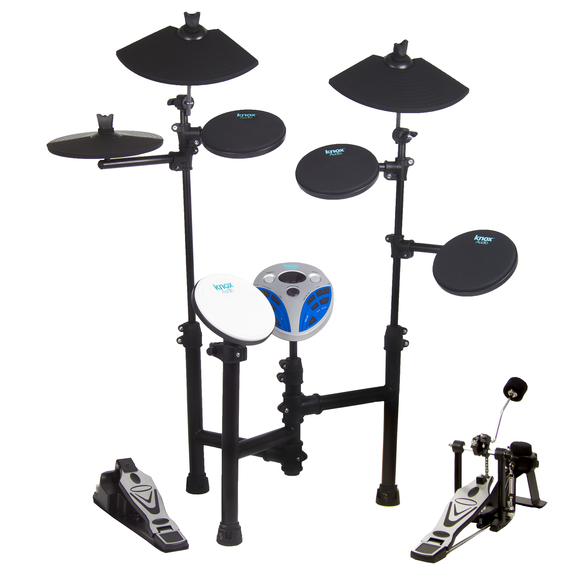 Knox 5 Drum 3 Cymbal Entry Level Electric Drum Set by Knox