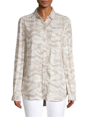 Long-Sleeve Print Shirt