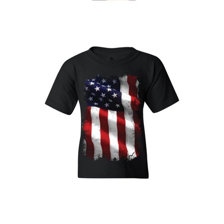 Shop4Ever Youth Patriotic American Flag 4th of July USA Graphic Youth T-Shirt America Flag Patriotic Usa T-shirt