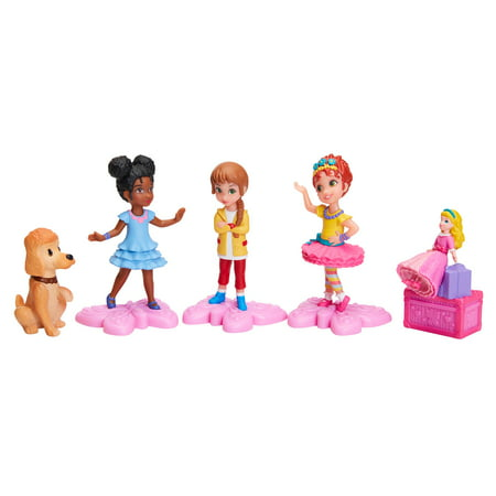 Fancy Nancy Figurines 5 Pack Set includes Fancy Nancy, Bree, Grace, Marabelle and Frenchy