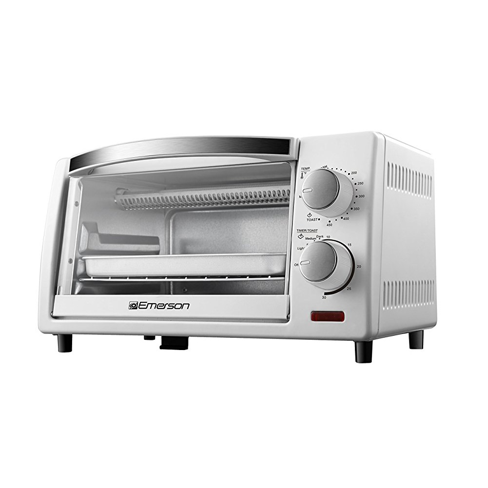 white toaster oven emerson 4 slice countertop toaster oven in white walmart 10062
