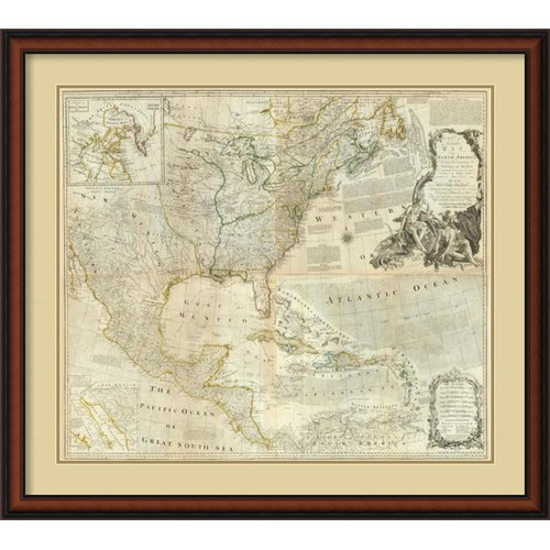 Amanti Art 'Composite: North America, 1776' by Thomas Jefferys Framed Graphic Art by Amanti Art
