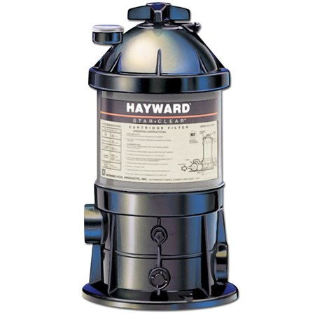 Hayward star clear 25 square feet cartridge pool filter for Average square footage of a pool