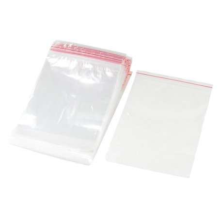 100 Pieces 12cm x 8cm Wholesale Self Sealing Zip Lock Plastic Bag