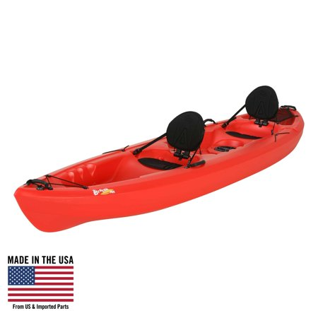Lifetime 12' Beacon Sit On Top Tandem Kayak, Red, 90620