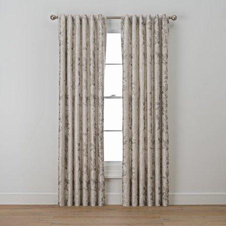 Richloom Home Fashions Luella Nature Floral Semi Sheer Rod Pocket Single Curtain Panel