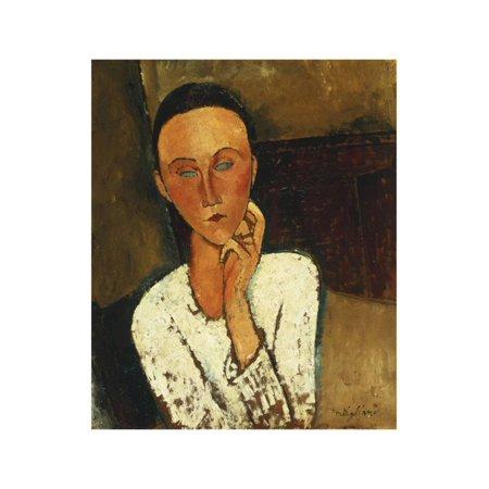 Lunia Czechowska (With Hand on the Right Cheek); Lunia Czechowska (La Main Gauche Sur La Joue),… Print Wall Art By Amedeo Modigliani](Cheek Art Designs For Halloween)
