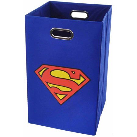 Modern littles superman logo folding laundry basket - Superhero laundry hamper ...